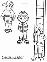 Coloring Fireman Printable Sheets Firemen Firefighter Cool2bkids sketch template