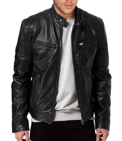 real leather motorcycle jackets men s sword genuine lambskin black leather biker jacket