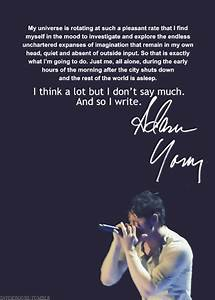 Adam Young Owl ... Owl City Inspirational Quotes