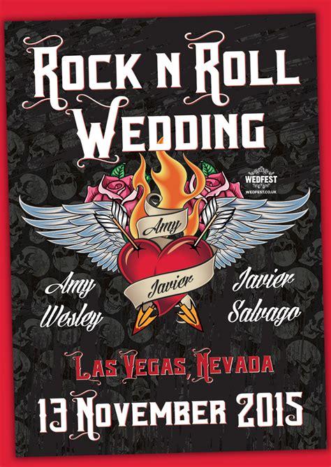 las vegas rock  roll wedding invites wedfest