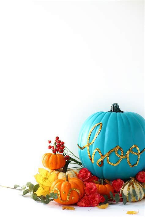 diy sequin message pumpkin   teal pumpkin project