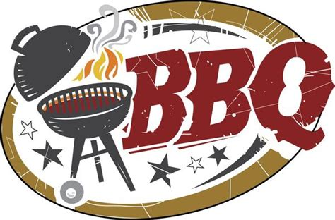 Cool Simple Bbq Barbeque Grill Cartoon Icon Vinyl Sticker