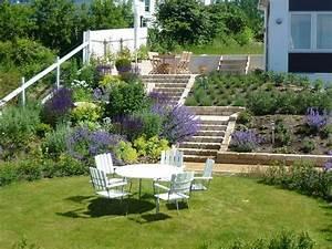 emejing amenagement jardin en pente contemporary With amenagement d un jardin en pente