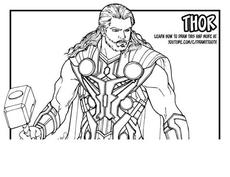 avengers thor coloring pages marvel lego free printable