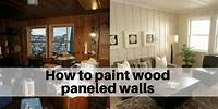 how to paint over wood paneling How to paint wood paneled walls and shiplap | The Flooring Girl