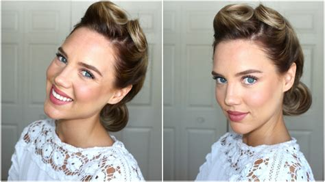 hairstyle victory rolls youtube
