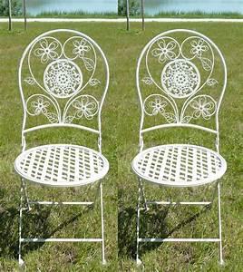Chaise En Fer Forgé : paire de chaises en fer forg pour salon de jardin ~ Dode.kayakingforconservation.com Idées de Décoration