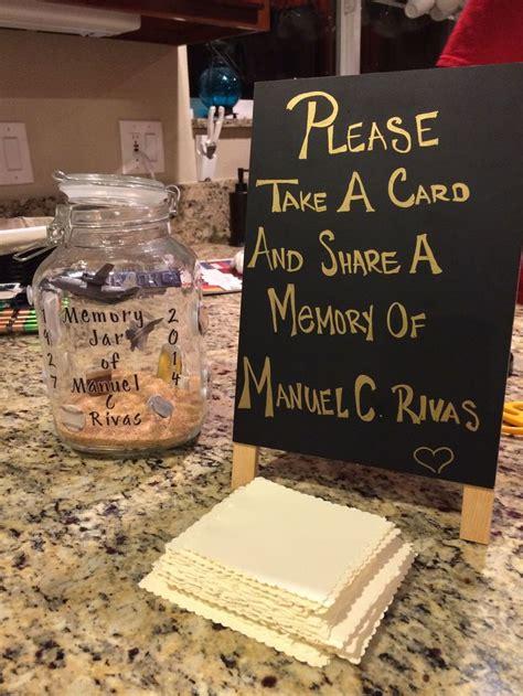 memories jar canning jars  funeral  pinterest