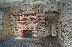 removing paint  brick siding farmhouse interior