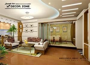25 modern pop false ceiling designs for living room for Pop ceiling design for living room