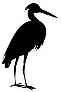 Blue Heron Silhouette Clip Art