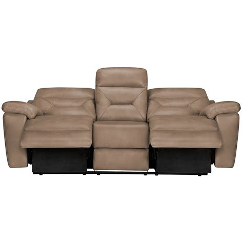 microfiber reclining sofa with console city furniture phoenix dk beige microfiber power