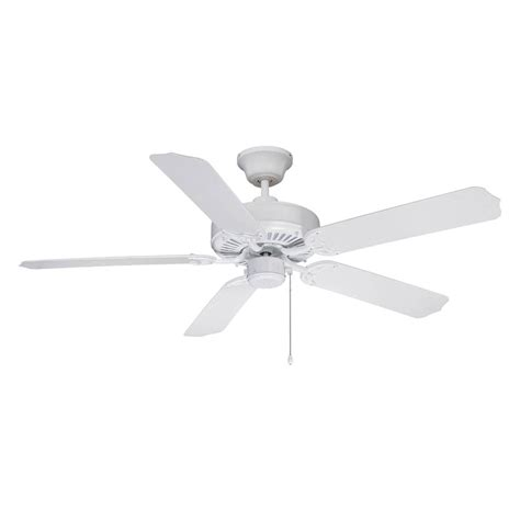 lowes flush mount white ceiling fans shop litex all weather 52 in white outdoor downrod or