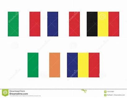 Stripes Vertical Flags Tricolor Yellow Orange Various