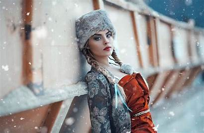 Winter Snow Wallpapers Hat Shoot Lady Season