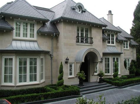 French Chateau Home Exterior Robert Dame Designs Interior