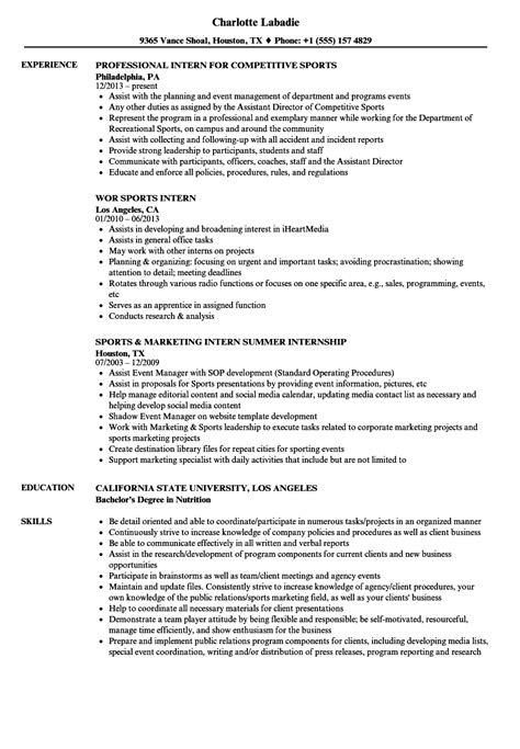 Intern Resume Sle by Sports Nutrition Degree California Nutrition Ftempo