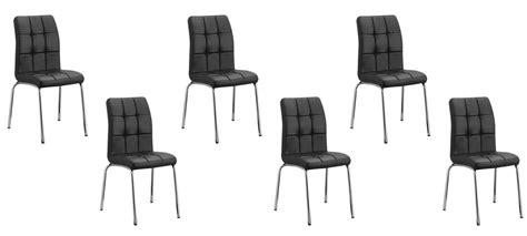 lot de 6 chaises noires lot de 6 chaises capitonnées noires en simili cuir