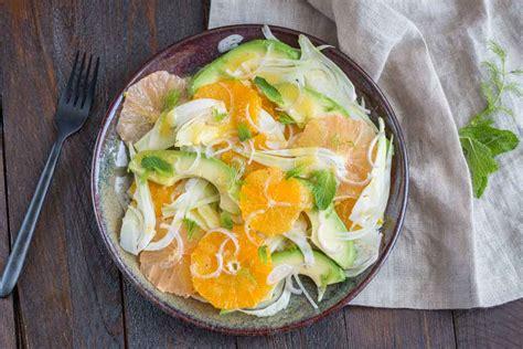 cuisine salade salade au fenouil agrumes avocat cuisine addict