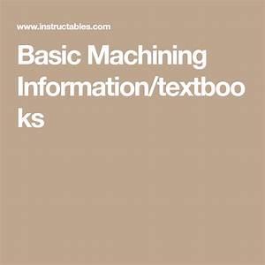 Basic Machining Information  Textbooks