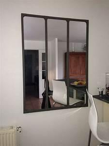 Miroir De Salon : miroir style atelier id es de d coration int rieure french decor ~ Teatrodelosmanantiales.com Idées de Décoration