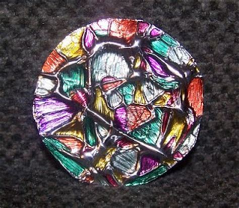 life     tin foil stained glass ornaments
