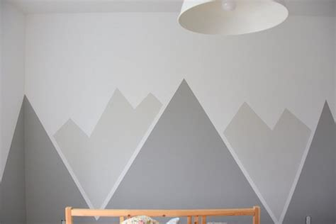 stencils for walls how to paint a diy nursery mountain mural no skills