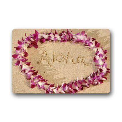hawaiian doormats aloha decor