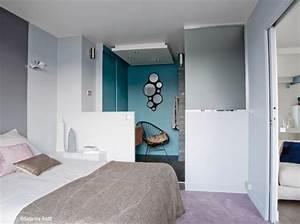 decoration chambre et salle de bain visuel 8 With chambre et salle de bain