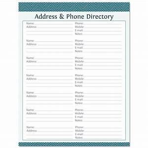 address phone directory fillable printable pdf instant With telephone address book template