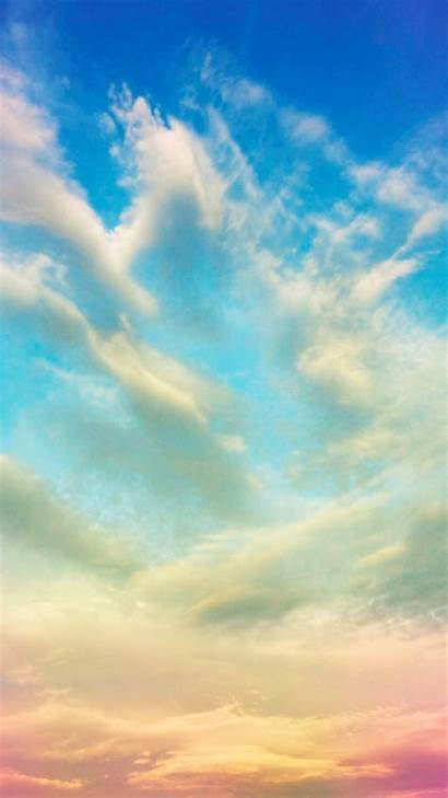 Sky Clouds Colorful Iphone Sunset Plus Backgrounds