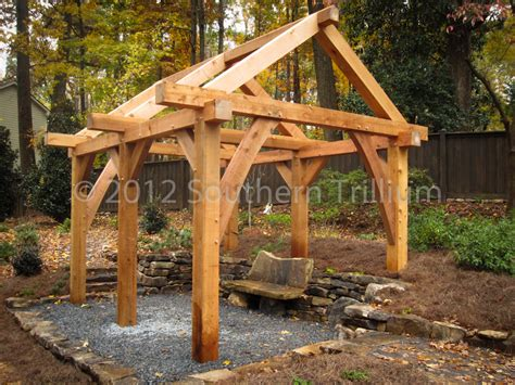 hometalk timber frame garden structure