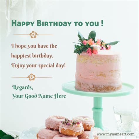 unique birthday cake   wishes greeting card