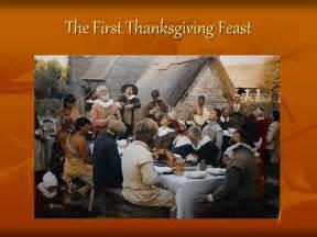 First Thanksgiving Feast