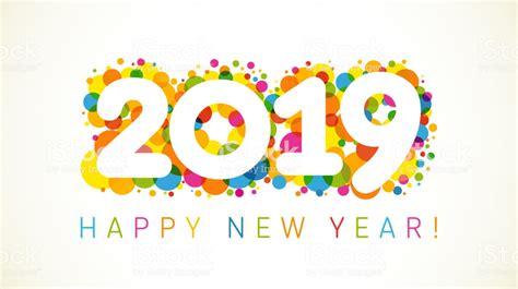 2019 A Happy New Year Xmas Greetings Stock Vector Art