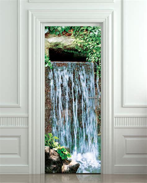 door sticker waterfall landscape cataract water mural