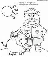 Zookeeper Zoo Coloring Pages Comments Template sketch template