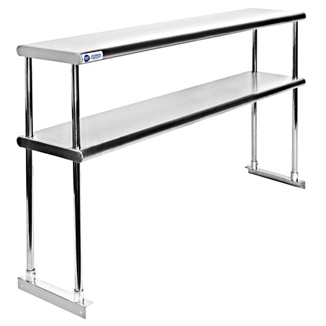 commercial stainless steel kitchen prep table  double
