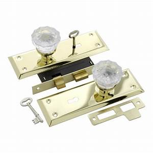 Keyed Glass Mortise Lockset