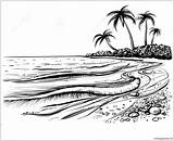 Beach Sea Waves Pages Coloring Printable Coloringpagesonly sketch template