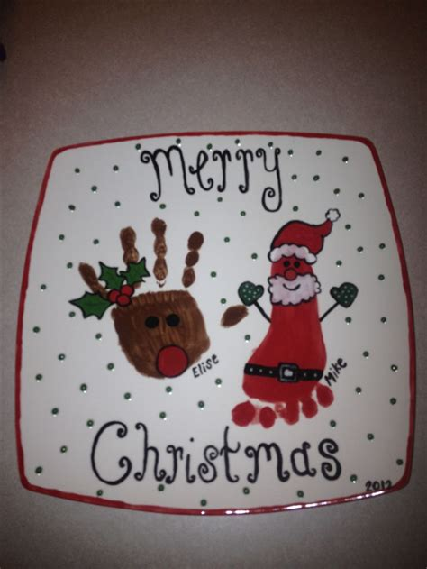 christmas handprint plate crafts pinterest