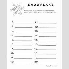 Snowflake Word Activity Worksheet  Homeschool, Snowflakes And Activities