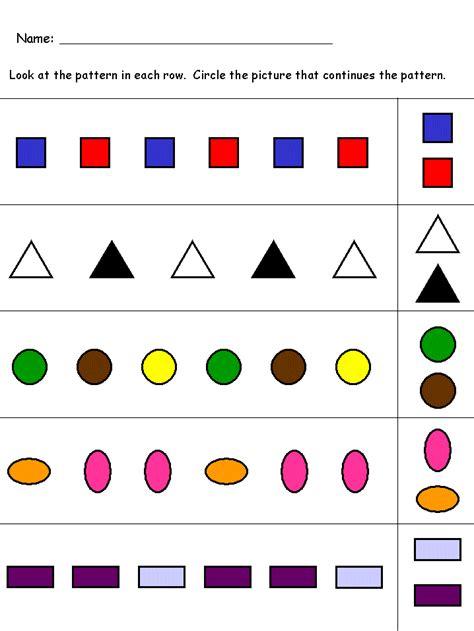 kindergarten worksheets maths worksheets pattern