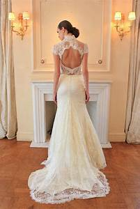 lace open back wedding dress ipunya With wedding dress back