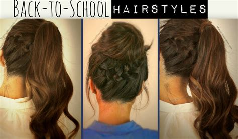 cute easy hairstyles for school long hair hairstyle