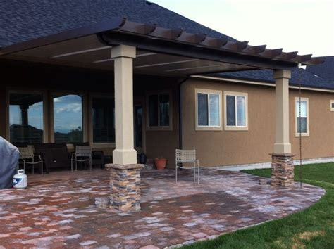 patio covers rustic porch boise by shadeworks inc