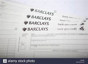 Work Orders Forms Barclays Paying In Slips Stock Photo 36454669 Alamy