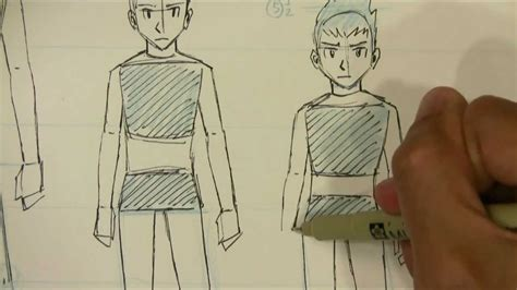 draw manga male body proportions teenager  kid