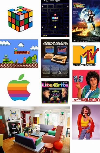 1980s Decade Colors 1990s 1940s Collage 1950s