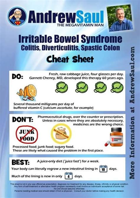 Andrew Saul's Irritable Bowel Syndrome Colitis